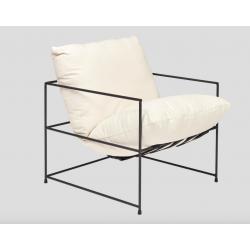 Minimalistic steel armchair...