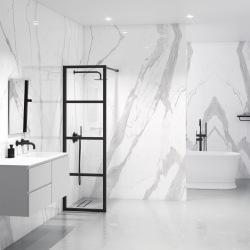 Metal industrial partition for shower enclosure 4D