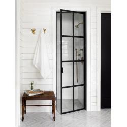 Black steel door for shower...