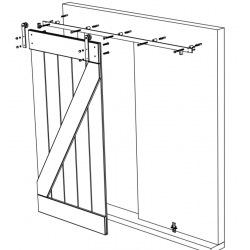 Metal industrial doors with glass 4D