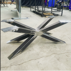 on stock Central steel base...
