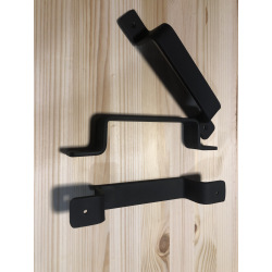 Black industrial pull handle Loman