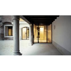 Steel entrance arched door