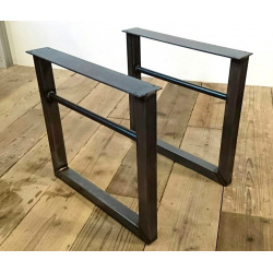 Metal square table base type 11
