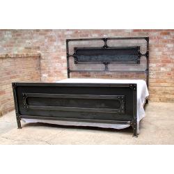 Industrial steel double bed