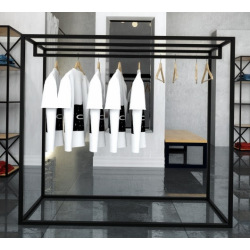 Steel hanger for shops and changing rooms 140x160x50cm