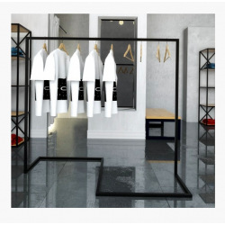 Steel hanger for shops and changing rooms model 2