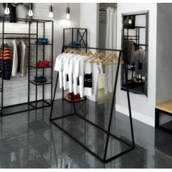 Steel hanger for shops and changing rooms model 3