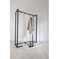 Steel hanger for shops and changing rooms model 6