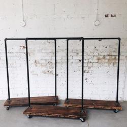 Steel hanger for hangers on wheels