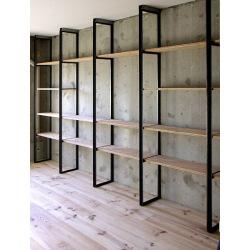 Industrial shelf for living room Armin