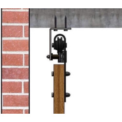Retro Barn sliding system with ceiling mount - for 2 wing