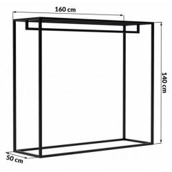 Steel hanger for shops and changing rooms v180xš160xh50cm