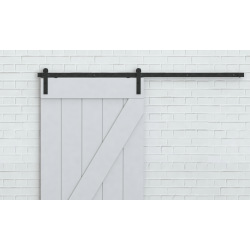 Steel Square Retro Barn Sliding System, for two doors