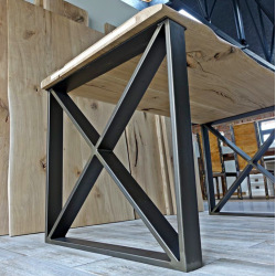 Steel base for dining table type X11 smooth