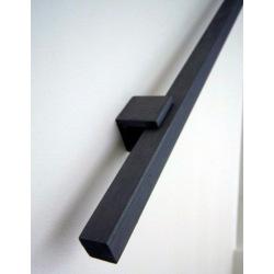 Black steel square railing type 8