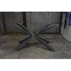 Central steel base for dining table type X 19