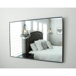 Industrial mirror in metal frame