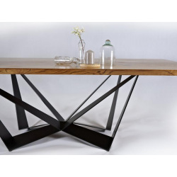 Central steel base for dining table type 24