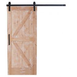 Sliding barn door double Z in frame